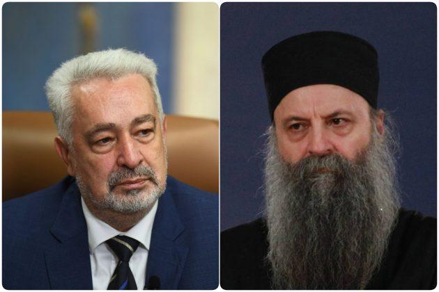 Zdravko Krivokapic i patrijarh Porfirije