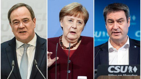 Armin Lašet, Angela Merkel, Markus Zeder