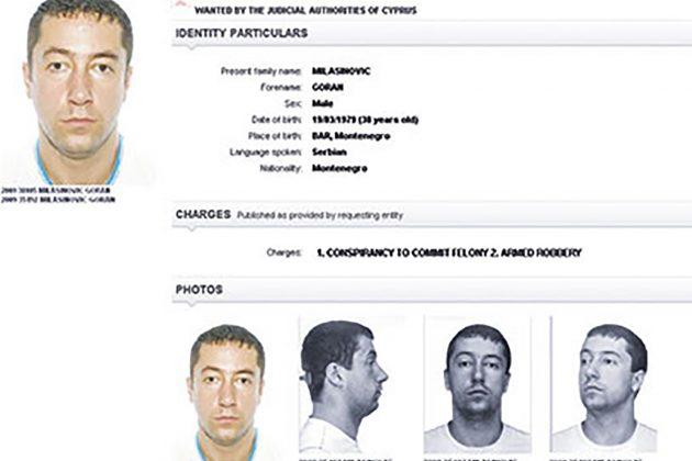Goran Milašinović, poternica, Interpol