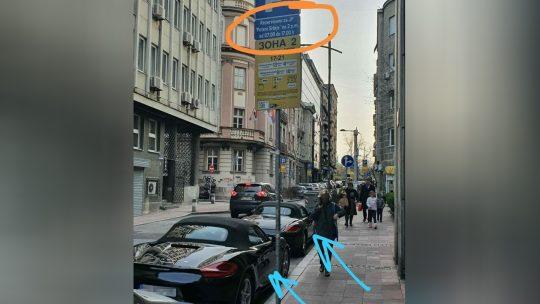 Porše, bahato parkiranje, Putevi Srbije