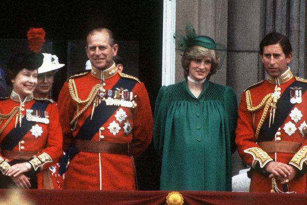 Kraljica Elizabeta, princ Filip, Dajana, Čarls