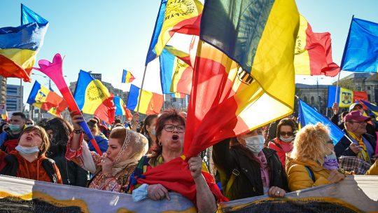 Rumunija protest