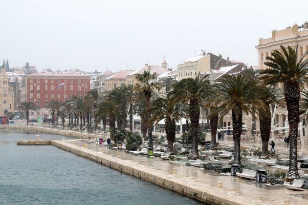 Hrvatska, Split, sneg, oluja