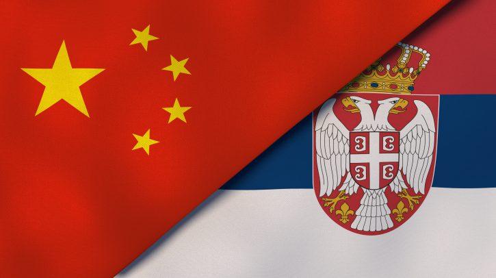 Kina, Srbija, zastava, zastave