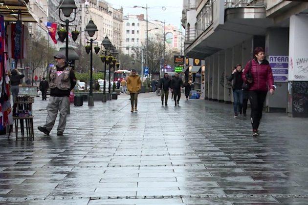 Kišna subota u centru Beograda
