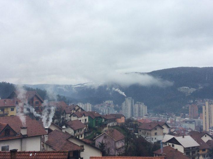 Užice, dim, zagađenje, zagadjenje, vazduh