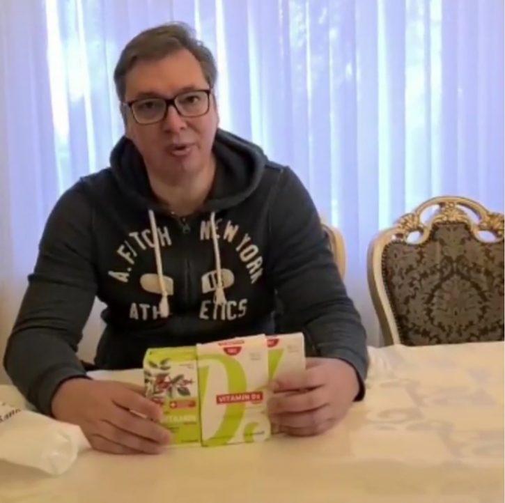 Aleksandar Vučić, vitamini
