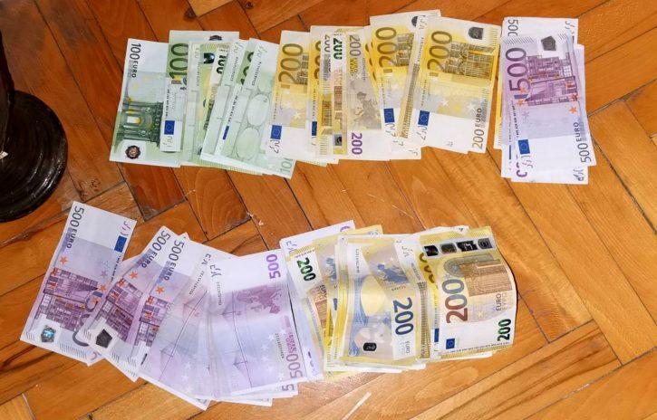 Zaplenjen novac