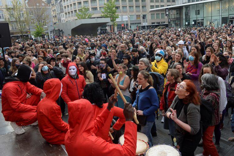 Brisel protest prvomajski