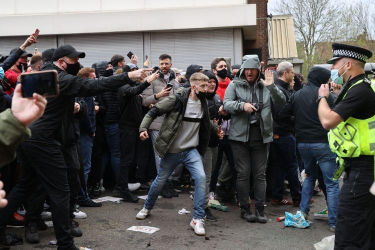 Mančester junajted, stadion, protest, policija