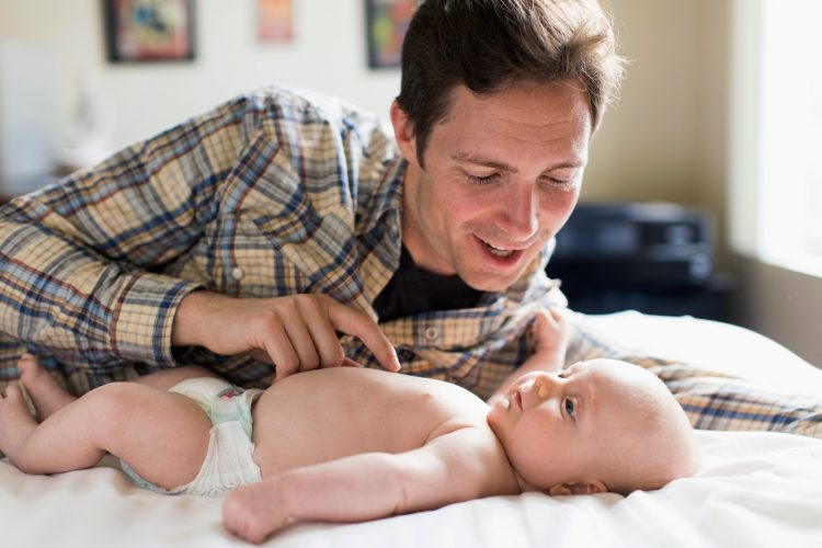 otac i beba; dete