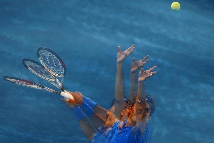 Rodžer Federer Madrid 2012. plava šljaka