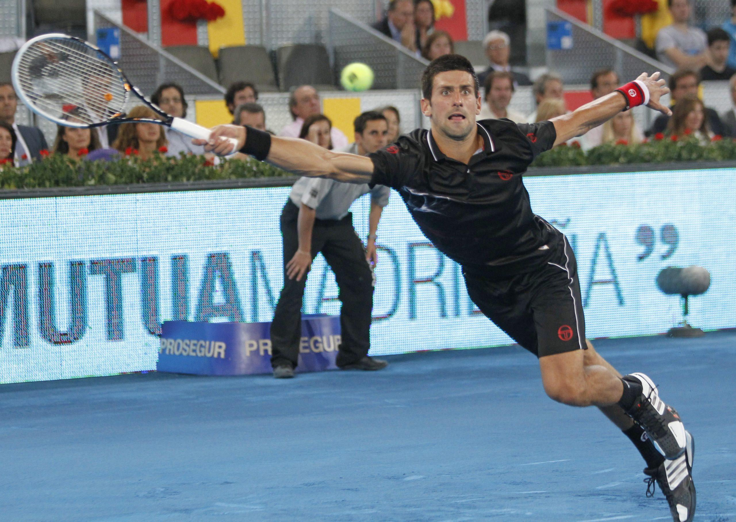 Novak Đoković Madrid 2012 plava šljaka