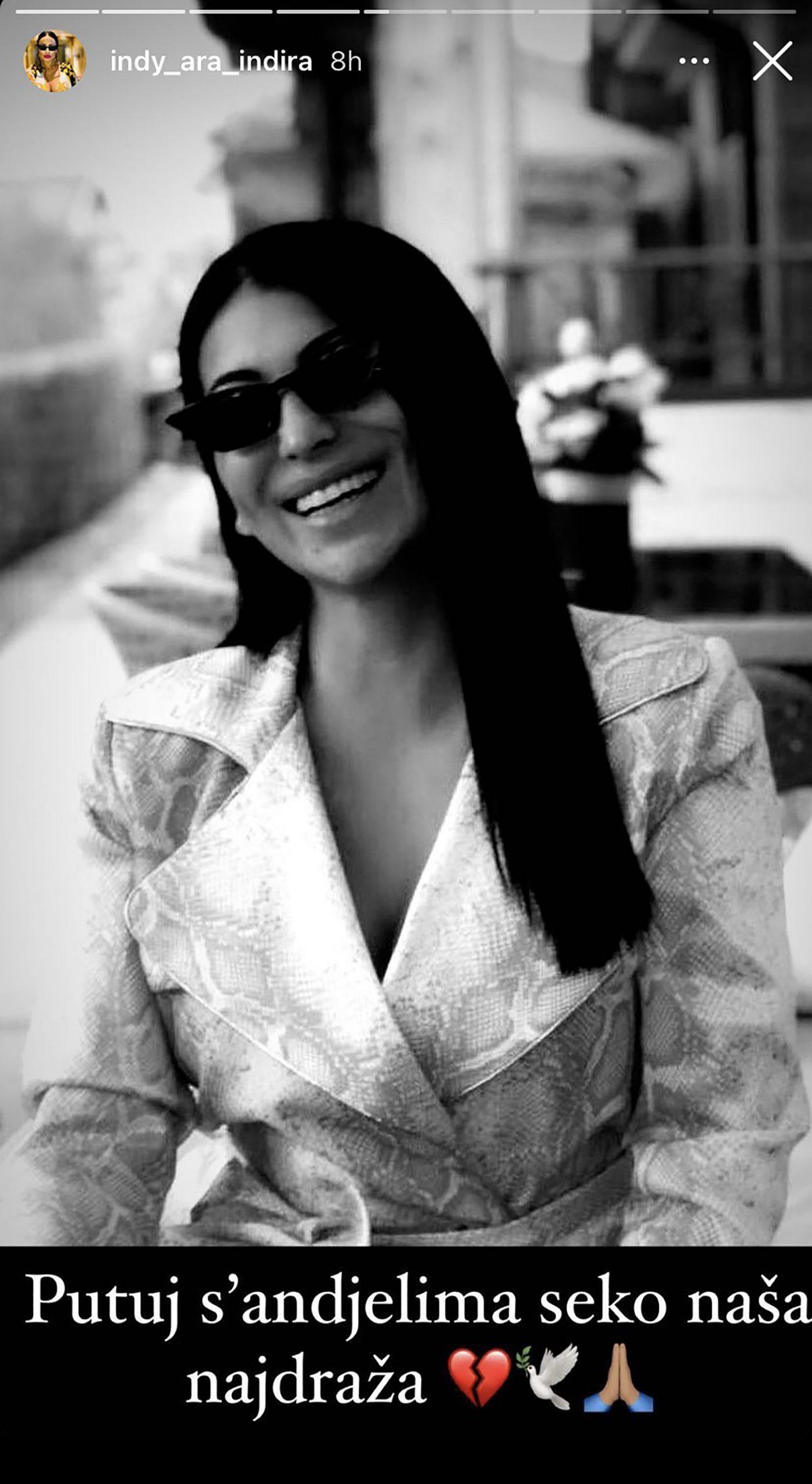 Indi Aradinović, sestra