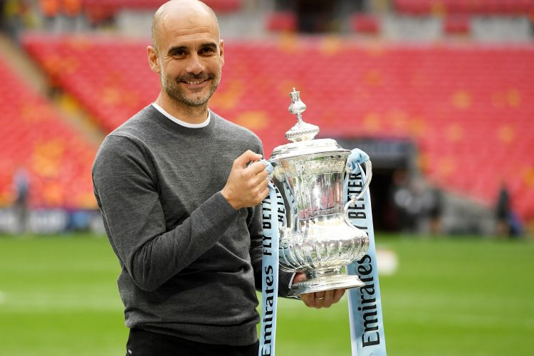 Pep Gvardiola trofej