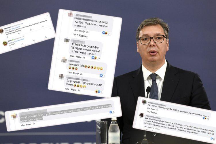 Aleksandar Vučić, novac za vakcinaciju komentari