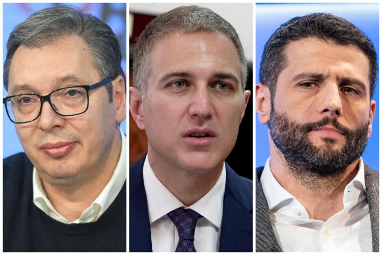 Aleksandar Vučić, Nebojša Stefanović, Aleksandar Šapić