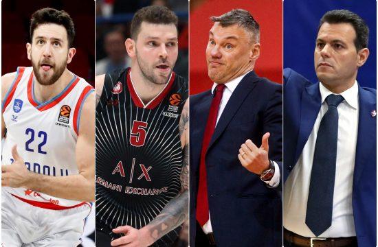Vasilije Micic, Vladimir Micov, Sarunas Jasikevicus i Dimitris Itudis