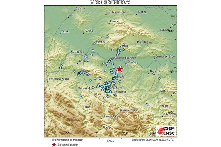 Zemljotres Bosna i Hercegovina