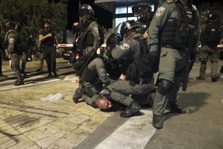 Jerusalim Palestina sukob policija neredi