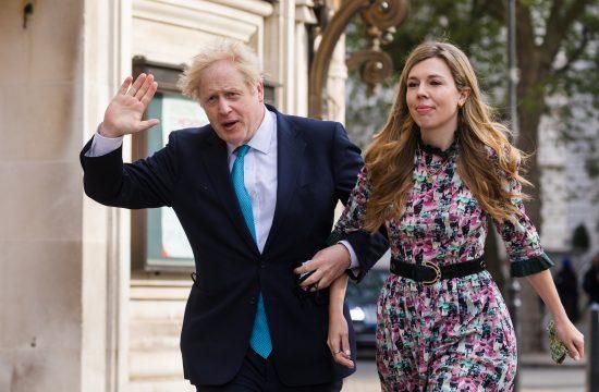Boris Džonson sa suprugom Keri Simonds