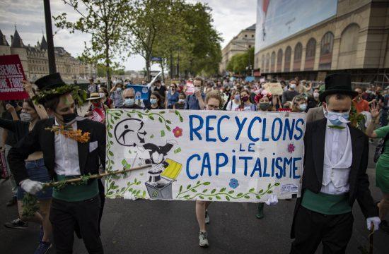 Pariz protest klimatske promene,