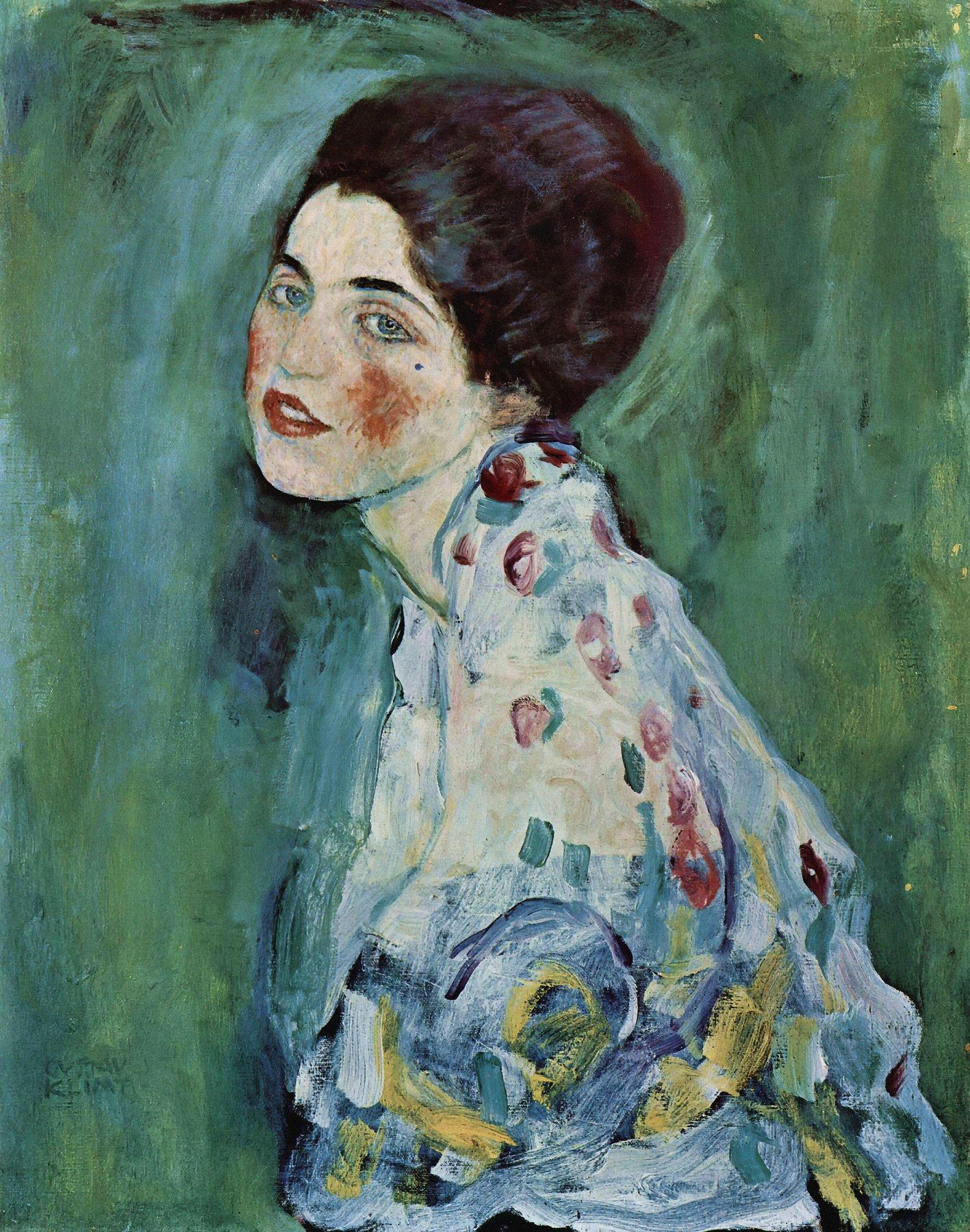 Portrait of a Lady Gustav Klimt