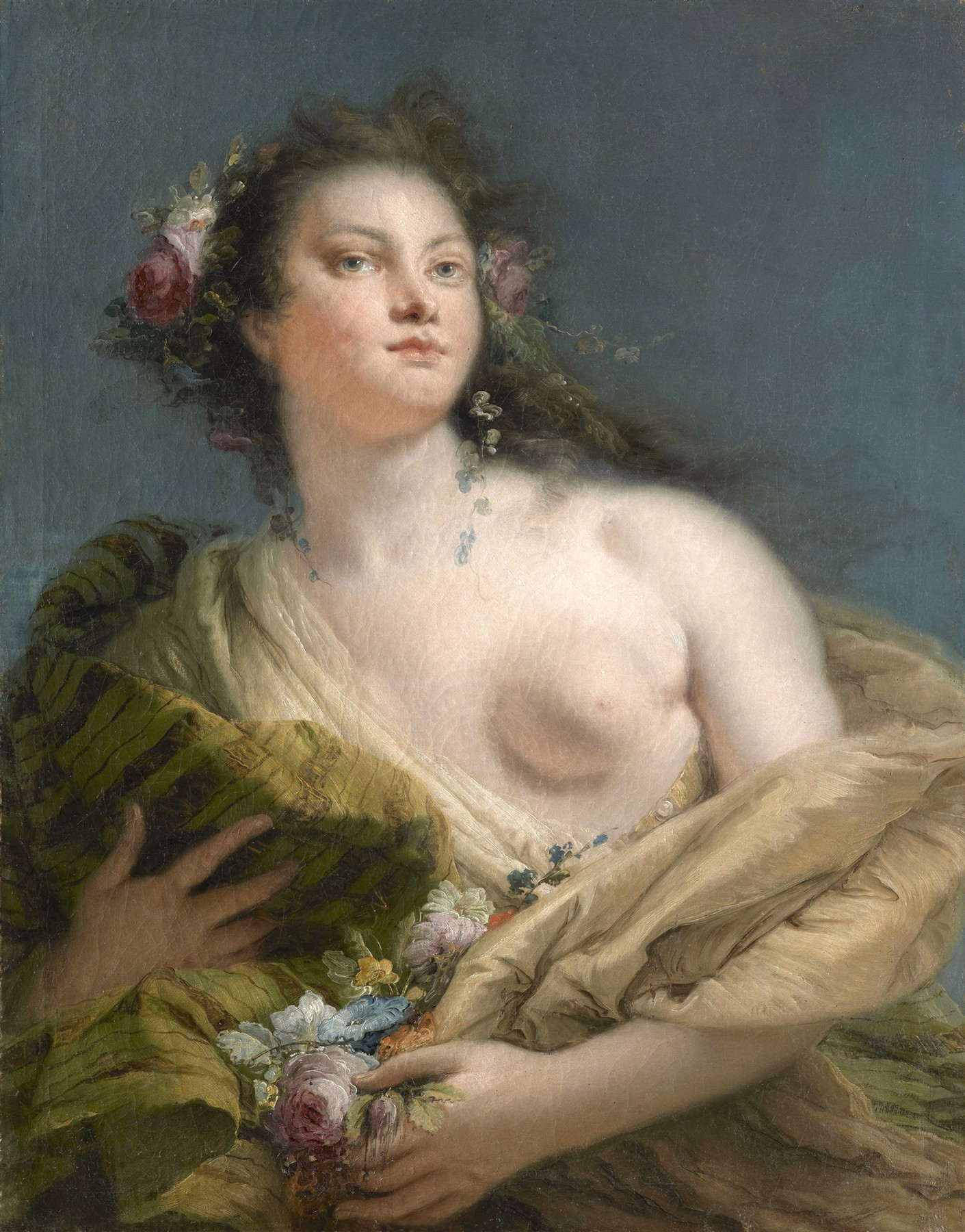 Portrait of a Lady as Flora Giovanni Battista Tiepolo
