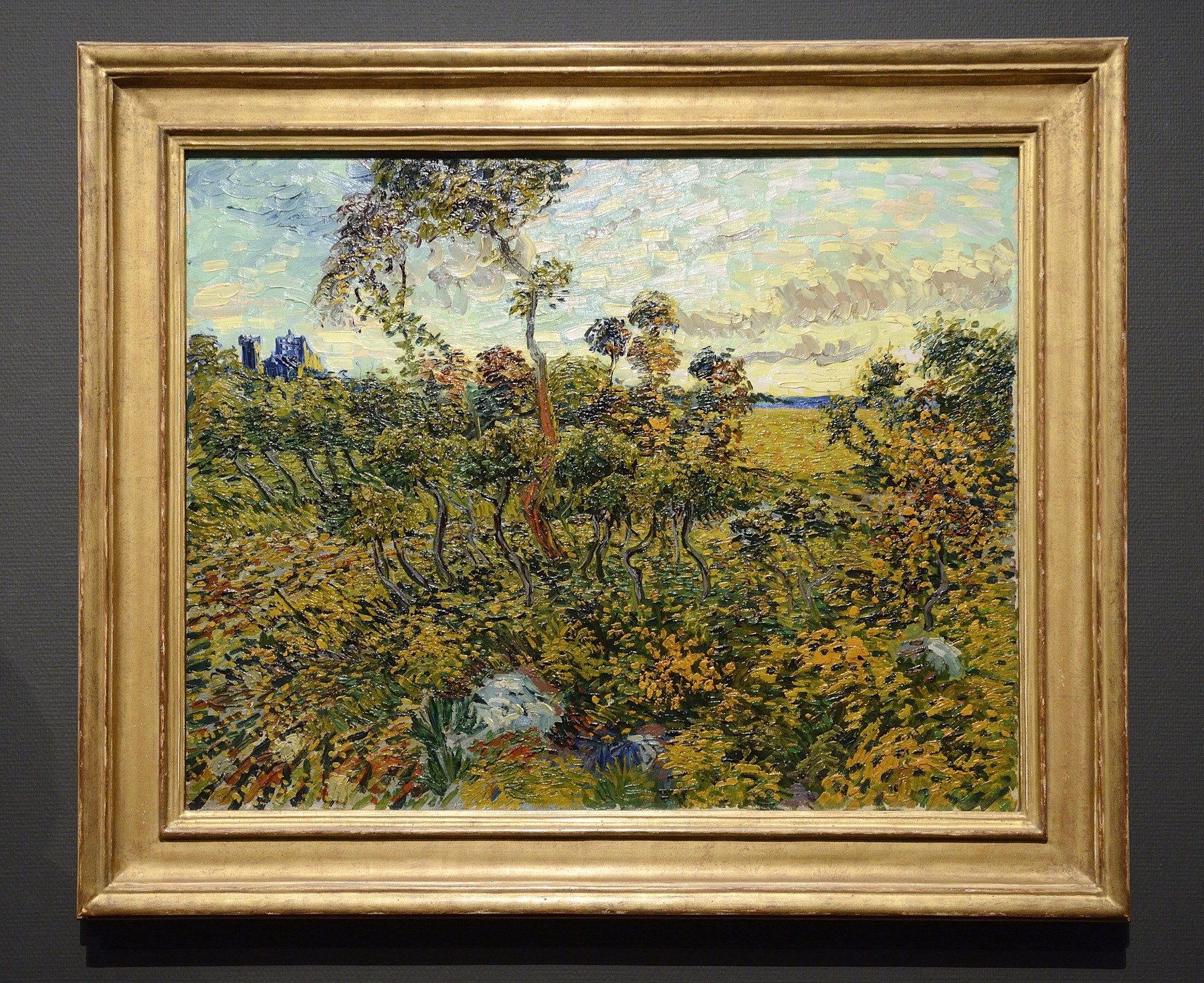Sunset at Montmajour (1888) Vincent van Gogh
