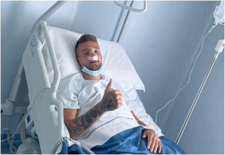 Sergej Milinković-Savić bolnica slomljeni nos operacija