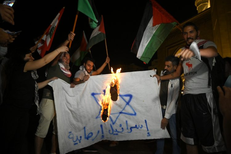 Bejrut protest Gaza