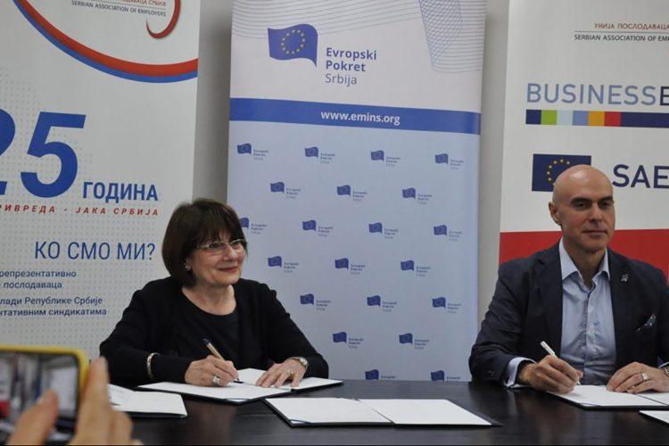 Unija poslodavaca potpisivanje memoranduma