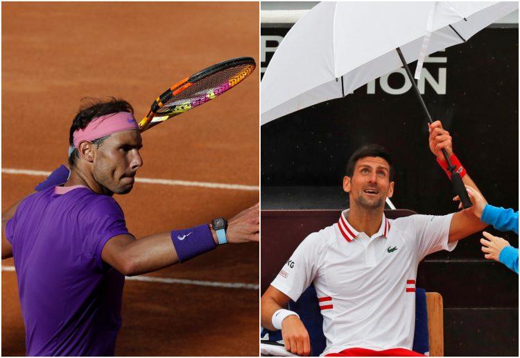 Novak Đoković i Rafael Nadal Rim navijači