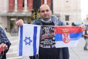 Skup podrske Izraelu na Trgu republike u Beogradu