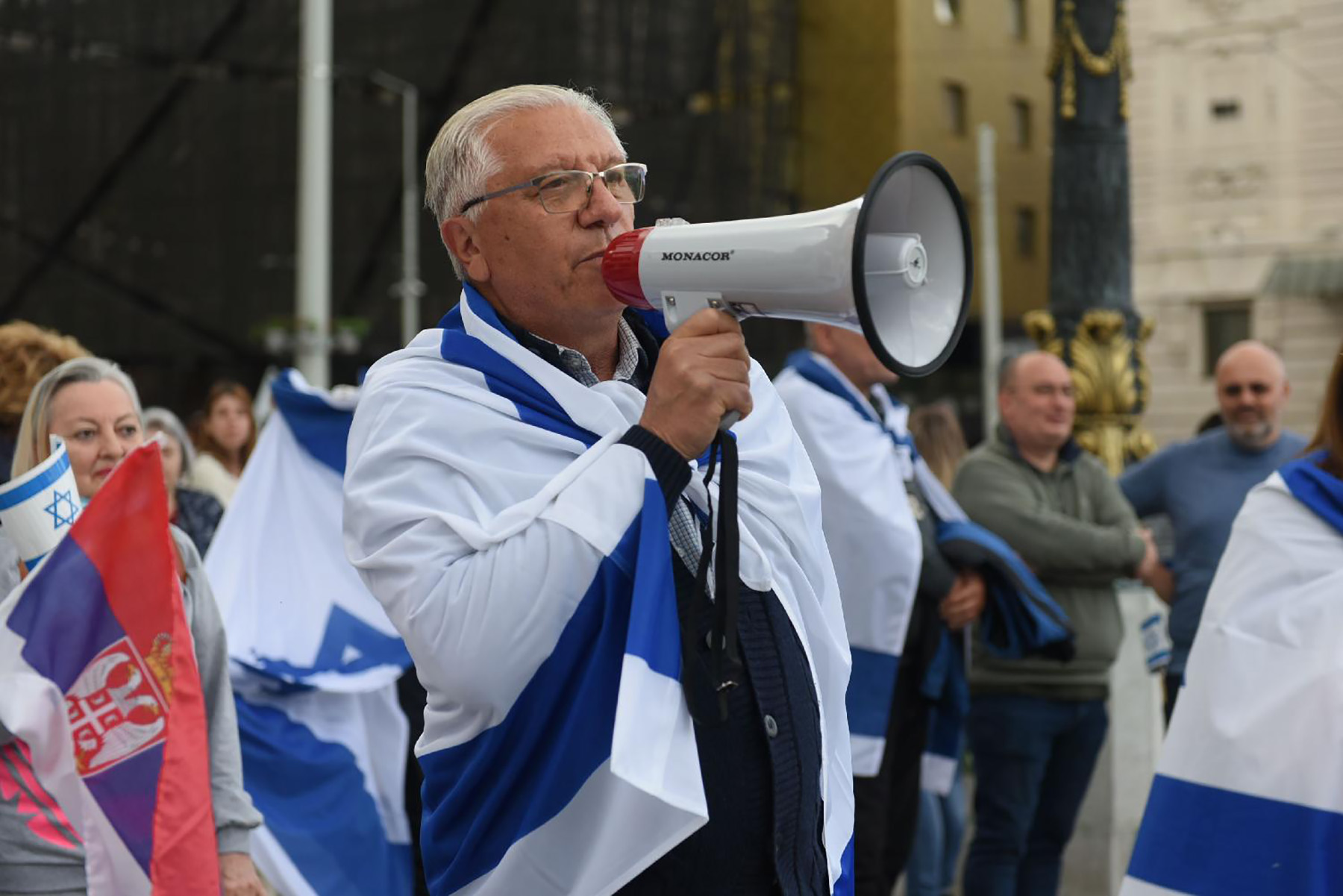 Avram Izrael Skup podrske Izraelu na Trgu republike u Beogradu