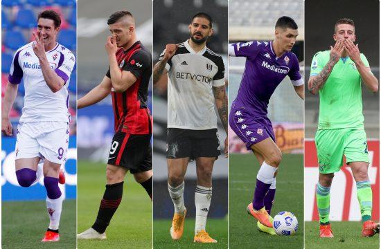 Dusan Vlahovic, Luka Jovic, Aleksandar Mitrovic, Nikola Milenkovic i Sergej Milinkovic Savic