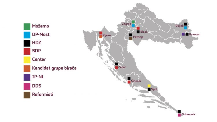 mapa hrvatska izbori