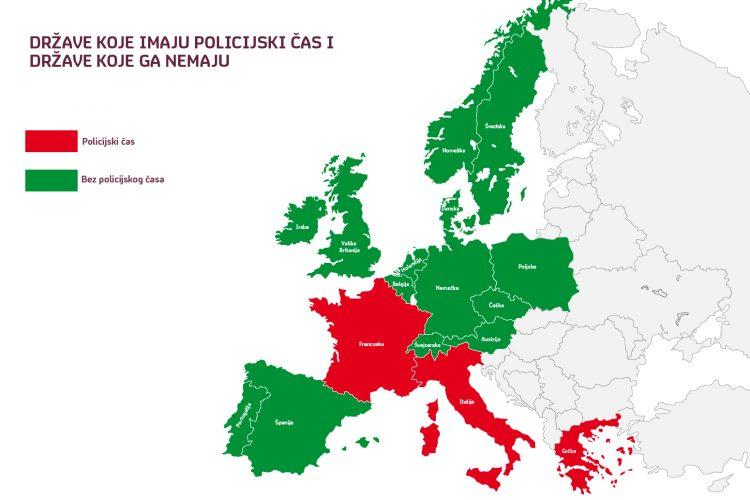 mapa evropa policijski cas