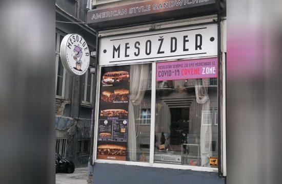 Sendvič bar Mesožder, akcija, besplatni sendviči za medicinare iz kovid 19 crvenih zona, akcija