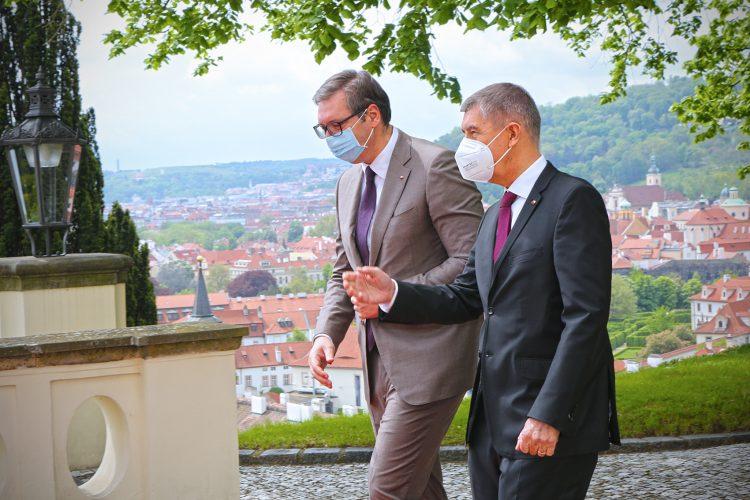 Aleksandar Vučić i Andrej Babiš