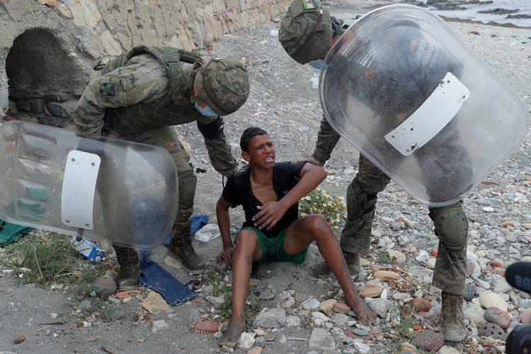 Seut, Ceuta, migranti
