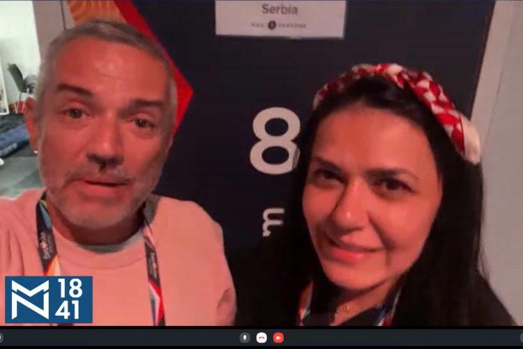 Aleksandar Đikić Điki, Aleksandar Djikić Djiki, Jelena Jovanović Srna, emisija Među nama, Medju nama