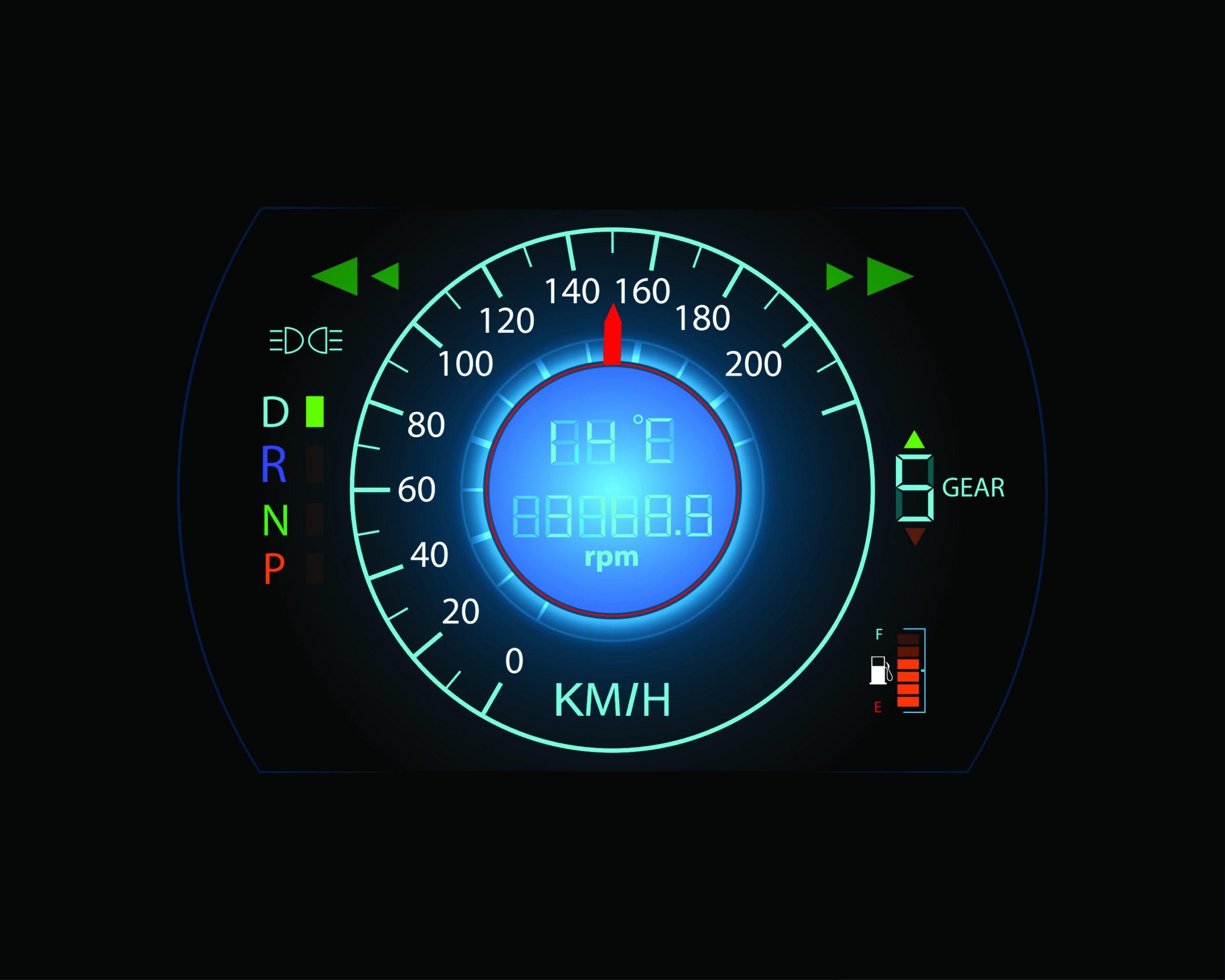 brzinomer, ubrzanje