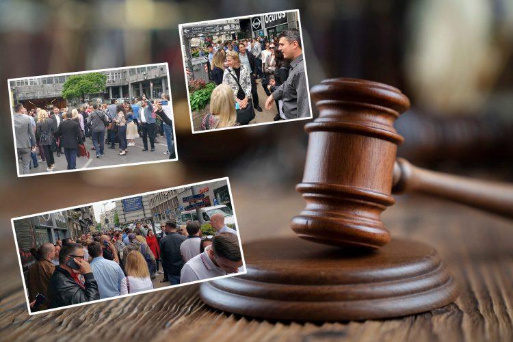 Čekić, protest, advokati, protest advokata