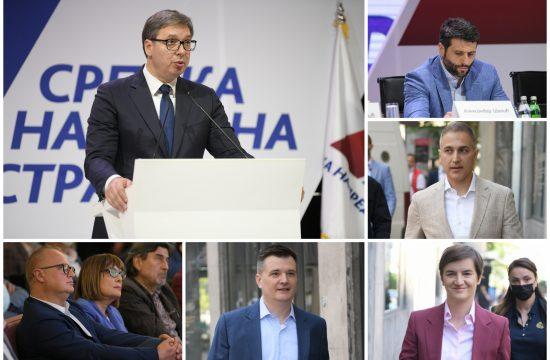 Aleksandar Vučić, Aleksandar Šapić, Nebojša Stefanović, Ana Brnabić, Milenko Jovanov, Goran Vesić, Maja Gojković, SNS, glavni odbor, sednica