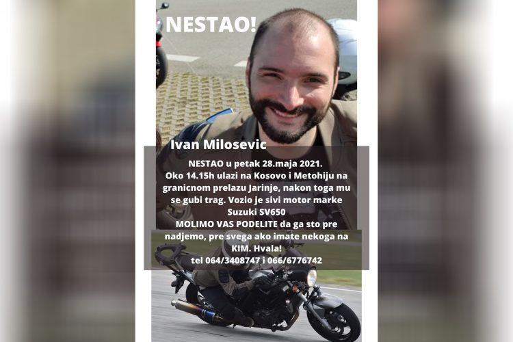 Ivan Milošević, nestao na Kosovu, Kosovo