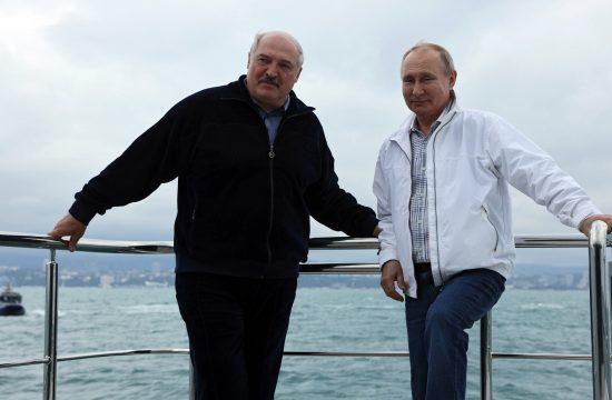 Aleksandar Lukašenko i Vladimir Putin