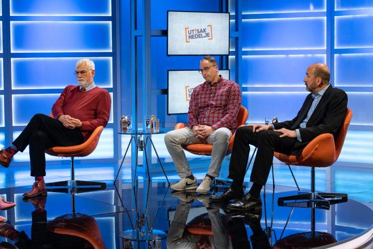 Boris Begović, Ognjen Radonjić, Radomir N. Saičić, emisija Utisak nedelje