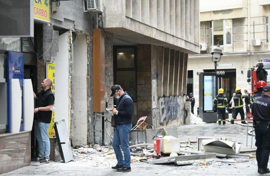 Čika Ljubina ulica, eksplozija, hronika, plinska boca, vatrogasci, policija, uviđaj, uvidjaj