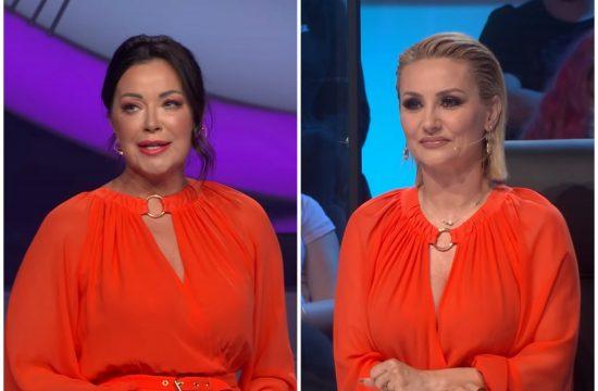 Dragana Katić, Goca Tržan, kombo, ista haljina